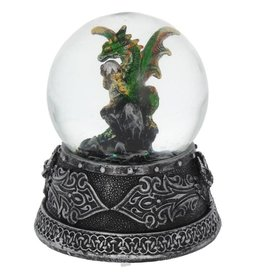 Alator Enchanted Emerald Snowglobe with Dragon - Nemesis Now