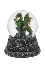 Alator Collectables - Enchanted Emerald Snowglobe with Dragon - Nemesis Now