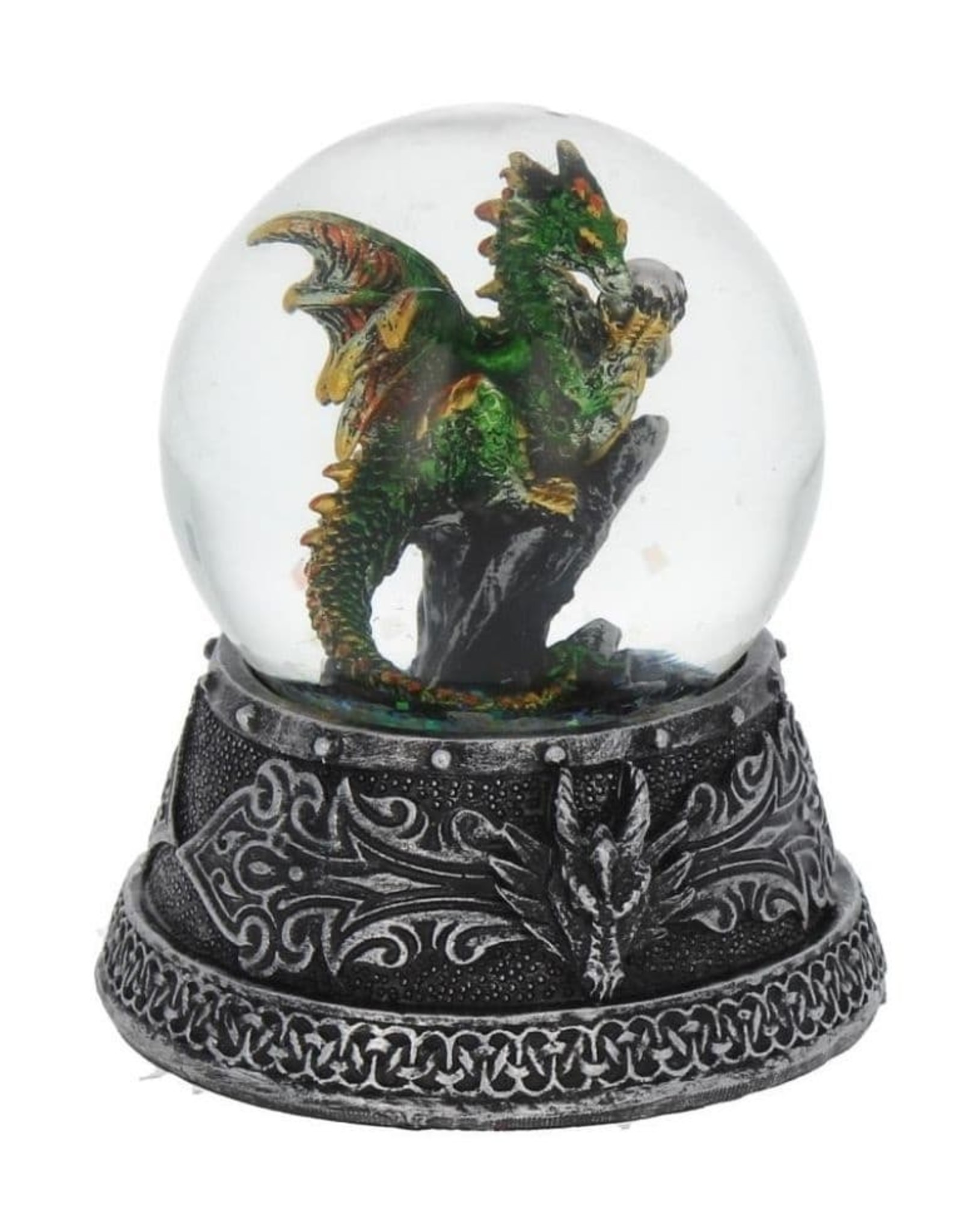 Alator Collectables - Sneeuwbol met Draak Enchanted Emerald - Nemesis Now
