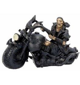 Nemesis Mow Skeleton on the Motorcycle Screaming Wheels - Nemesis Now