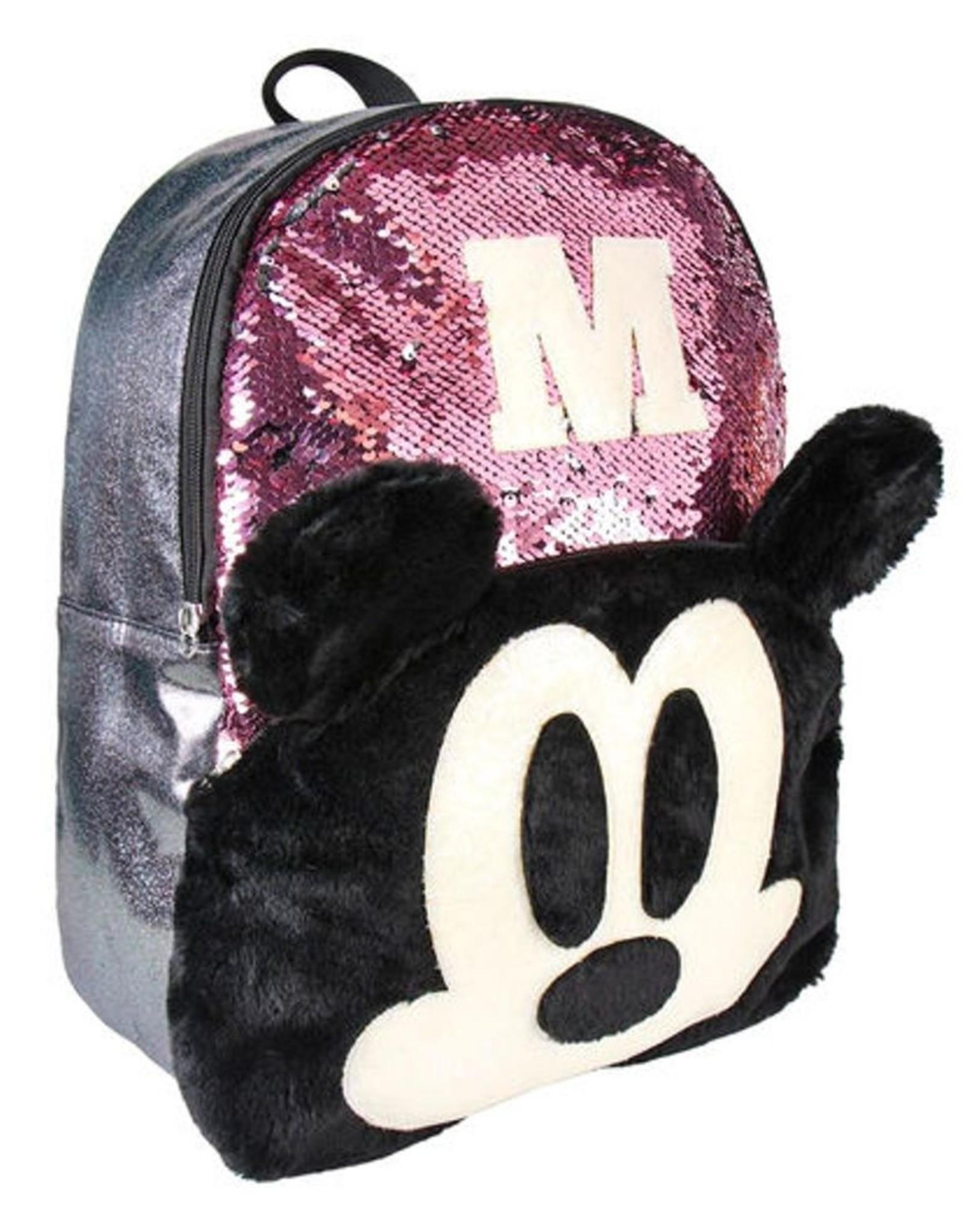 Cerda Disney tassen - Disney Mickey rugzak met pailletten  40cm (roze)