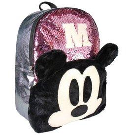 Disney Disney Mickey rugzak met pailletten  40cm (roze)