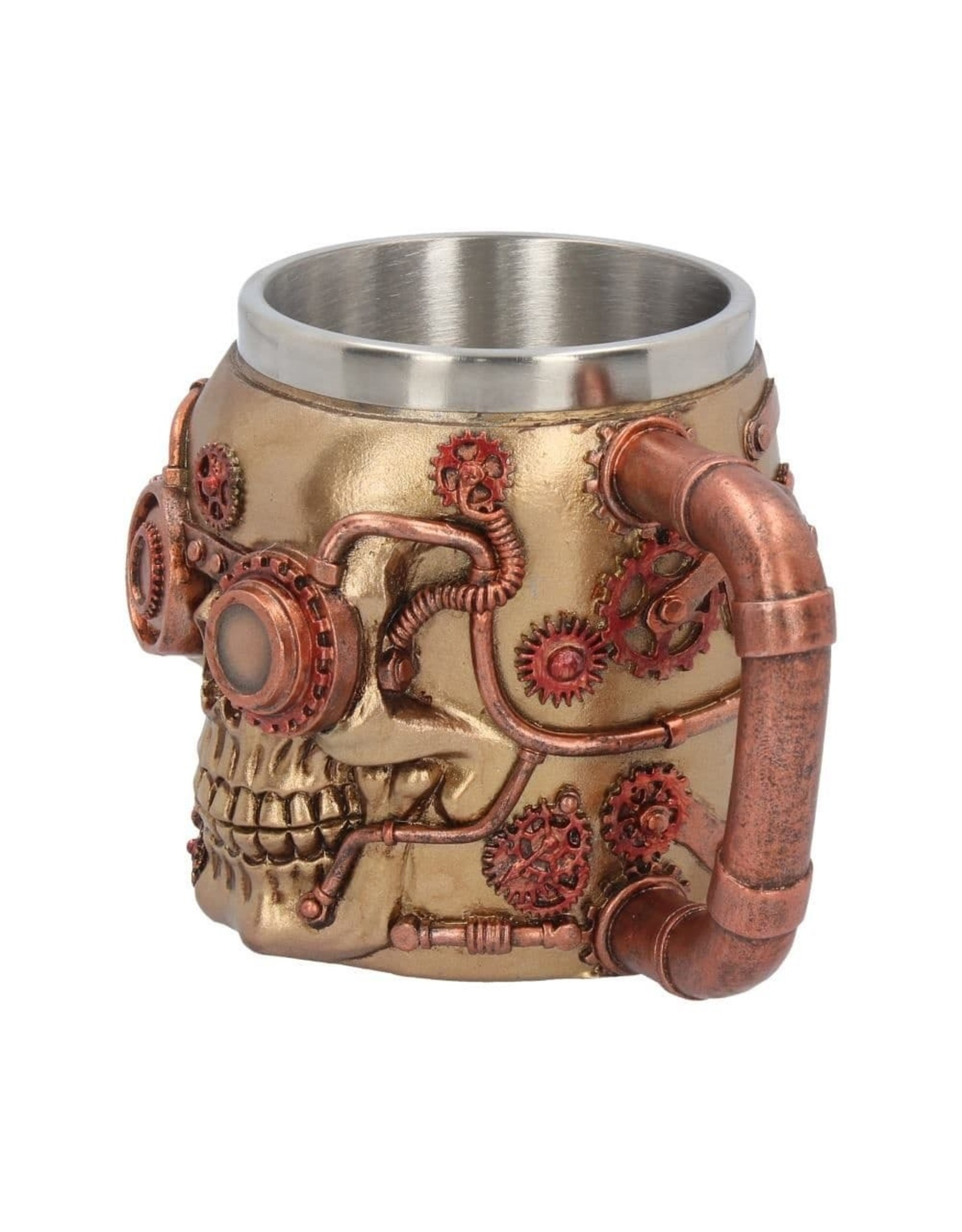 Nemesis Now Tankards and Goblets - Steampunk Tankard Steaming Skull Nemesis Now