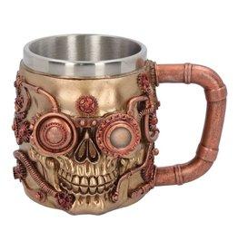 Nemesis Now Steampunk Drinkbeker Steaming Skull - Nemesis Now