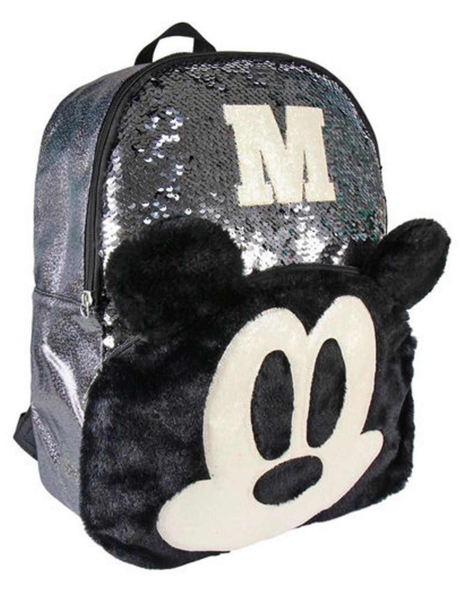 Disney Disney tassen - Disney Mickey rugzak met pailletten  40cm (zwart)