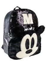 Cerda Disney tassen - Disney Mickey rugzak met pailletten  40cm (zwart)