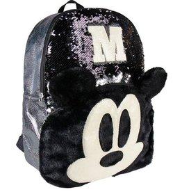 Cerda Disney Mickey rugzak met pailletten  40cm (zwart)