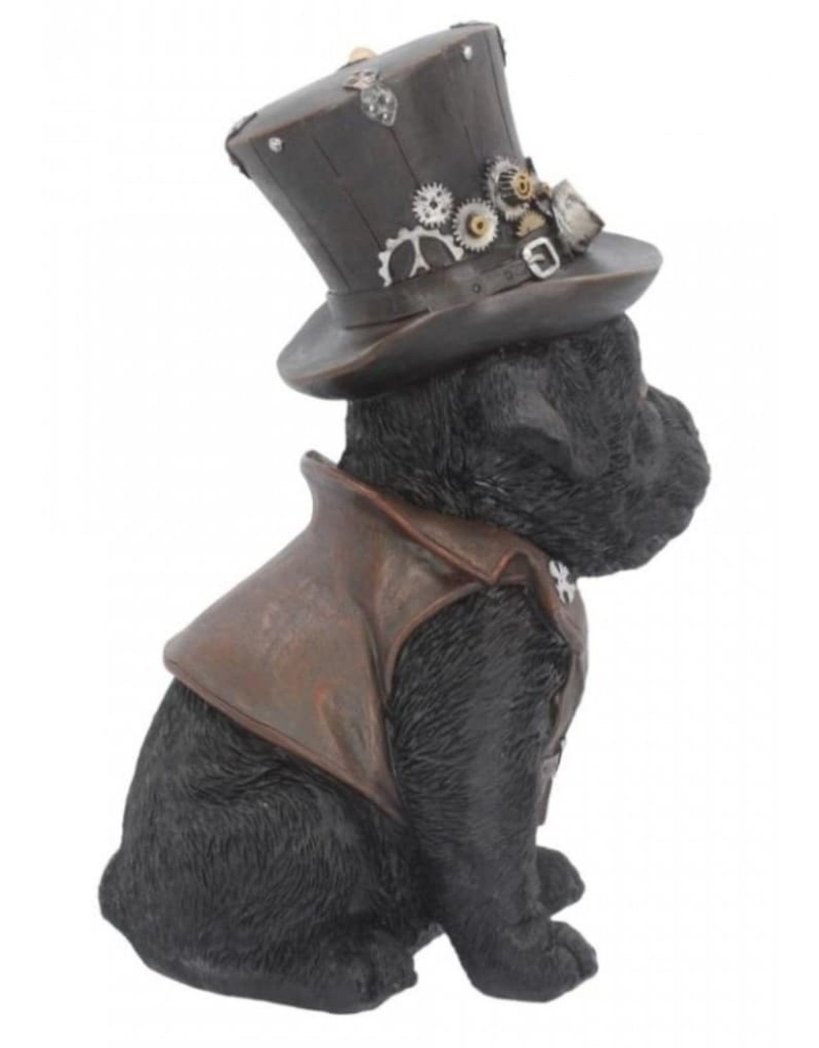 Alator Collectables - Steampunk Hondje met hoge hoed Cogsmiths - Nemesis Now