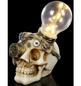 Alator Steampunk Skull with light bulb Light Minded - Nemesis Now