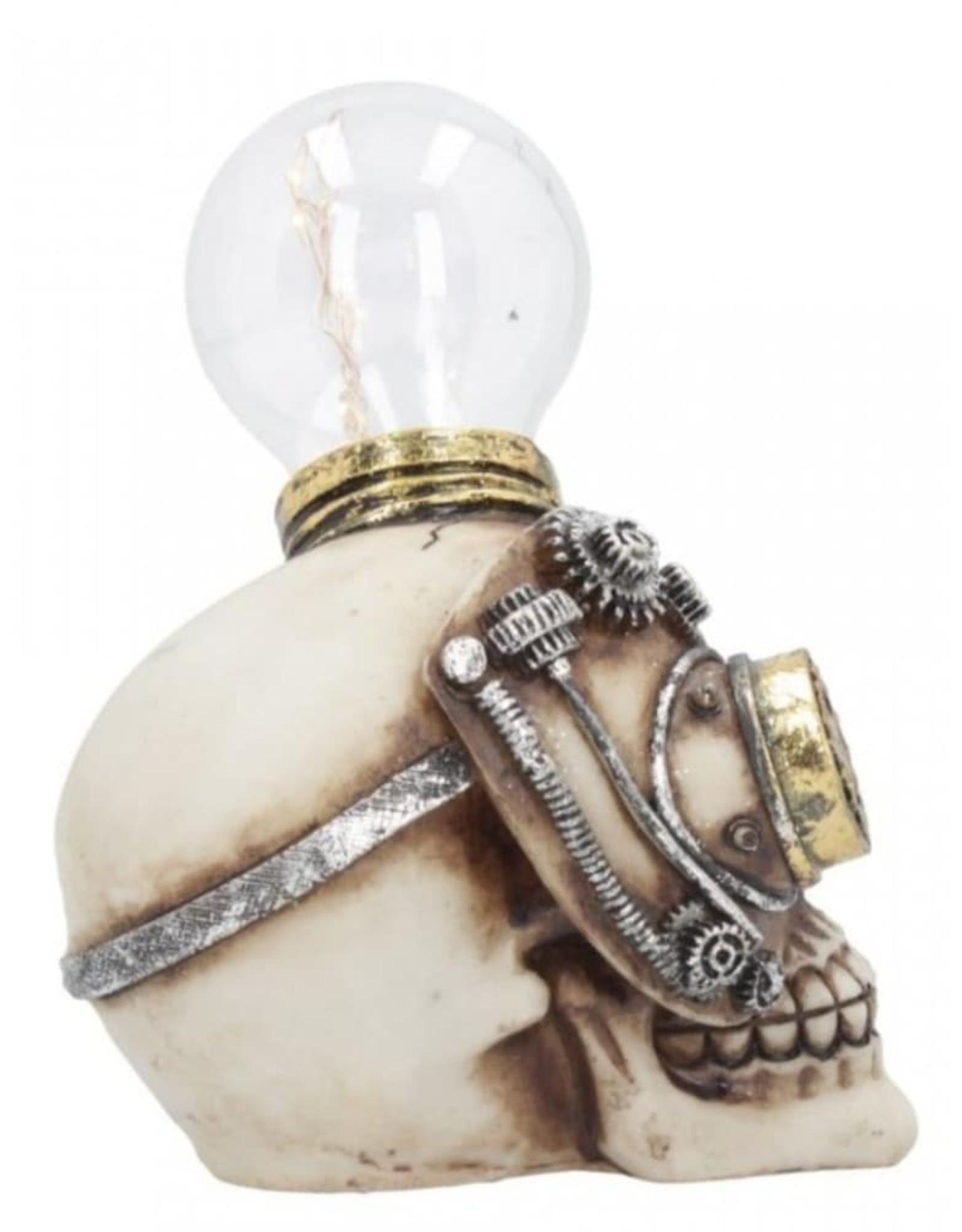Alator Schedels - Steampunk Schedel met gloeilamp Light Minded - Nemesis Now