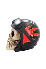 Alator Schedels - Schedel met Motorhelm Hell Fire - Nemesis Now