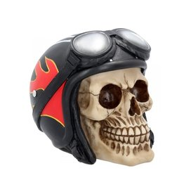 Alator Skull with Motorcycle Helmet Hell Fire - Nemesis Mow