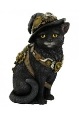 Nemesis Now Collectables -  Steampunk Kat met Heksenhoed  Clockwork Kitty - Nemesis Now