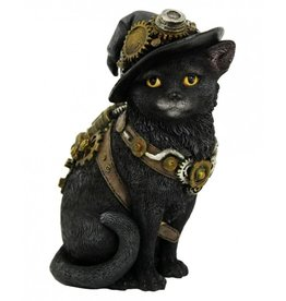 Nemesis Now Steampunk Kat met Heksenhoed  Clockwork Kitty - Nemesis Now