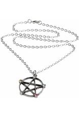 Alchemy Gothic sieraden Steampunk sieraden - Wiccan Elemental Pentacle ketting - Alchemy