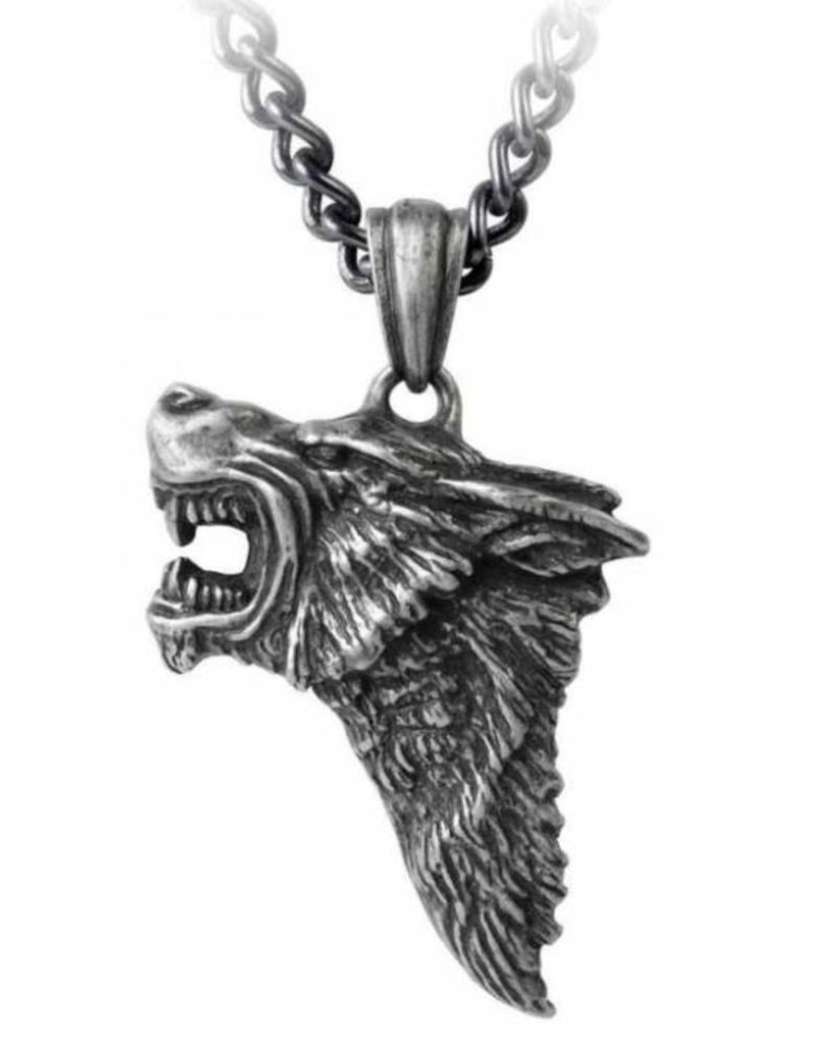 Alchemy Gothic accessoires - Dark Wolf hanger en ketting Alchemy