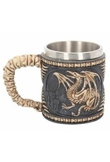 Alator Tankards and goblets - Fantasy Tankard Dragon Skeleton - Nemesis Now