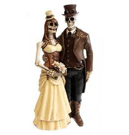 """Nemesis Steampunk Skeletons Wedding Couple """"I Do"""" - Nemesis Now"""