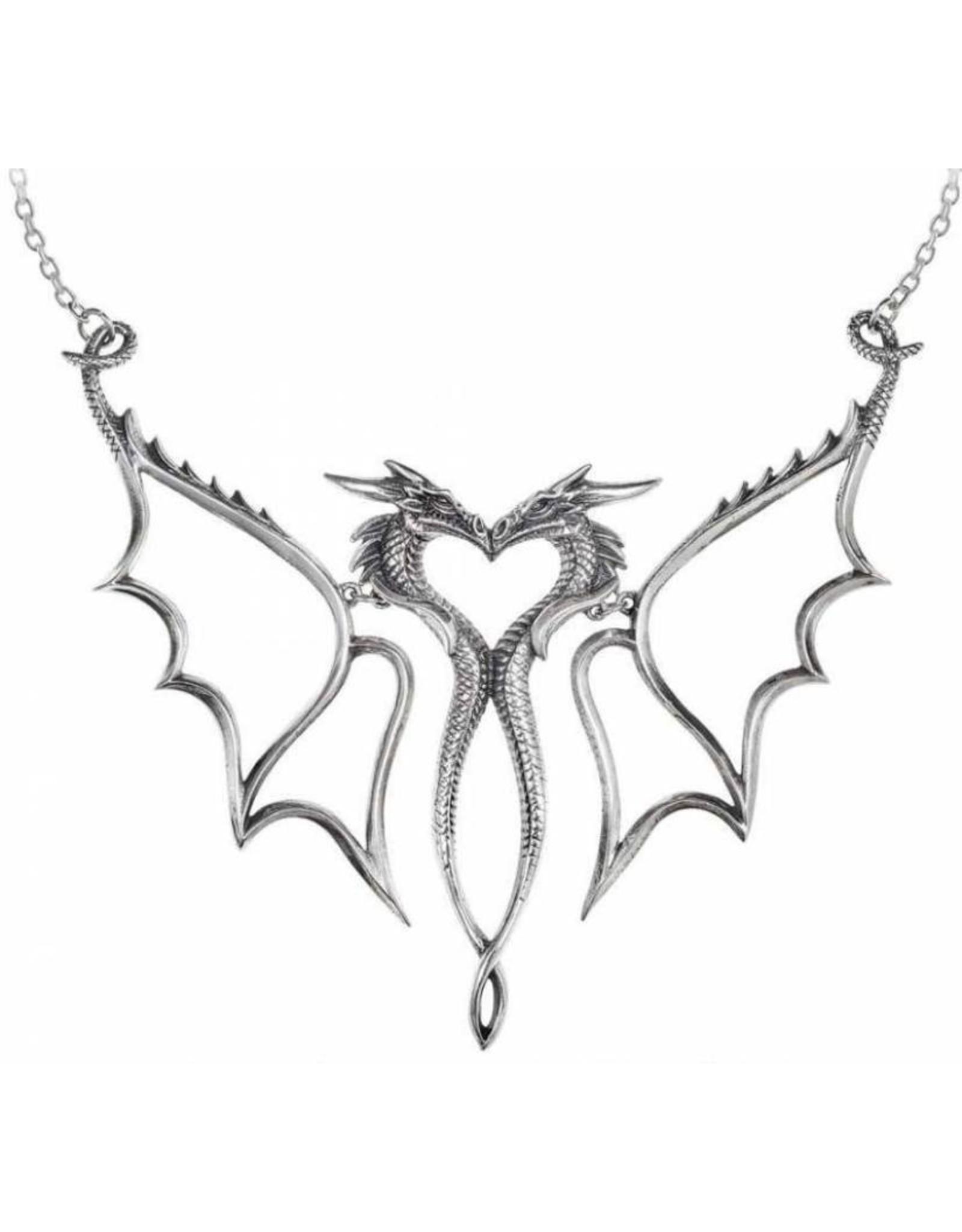 Alchemy Gothic sieraden Steampunk sieraden - Draken ketting Dragon Consort - Alchemy