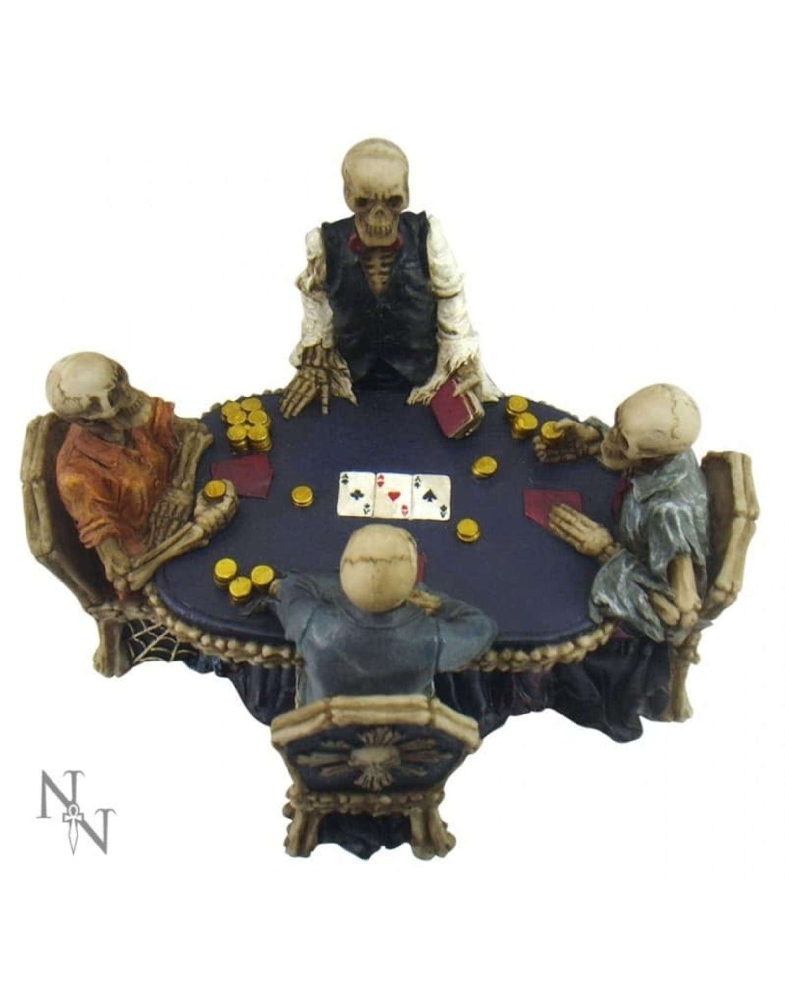 Nemesis Collectables - Poker table with Skeletons End Game Nemesis Now