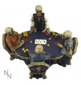 Nemesis Poker table with Skeletons End Game Nemesis Now