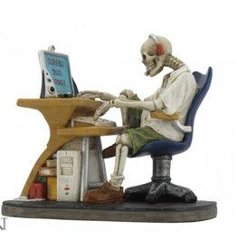 Veronese Design Skelet achter de PC Surfed Too Long Nemesis Now