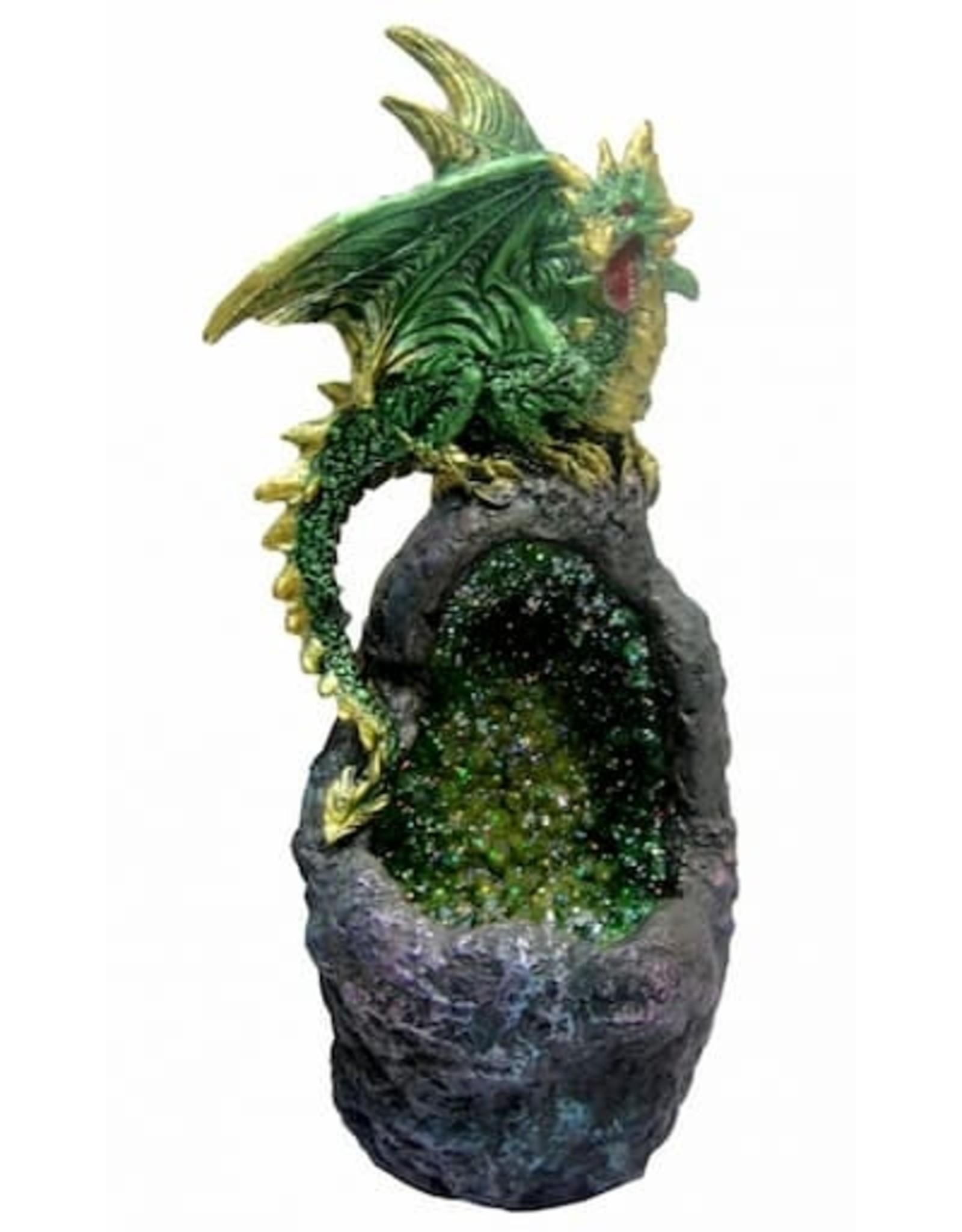 Alator Nice to have - Dragon with LED light Emerald Crystal Guard Nemesis Now