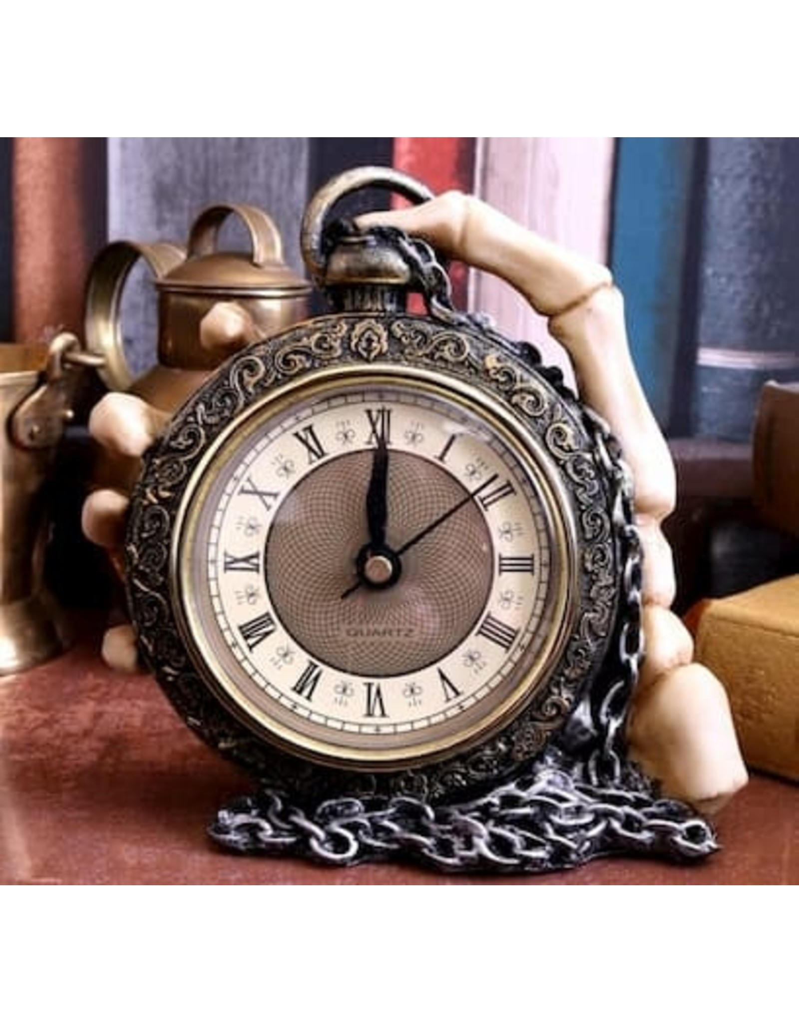 Alator Gothic and Steampunk accessories - Gothic Clock About Time Nemesis Now