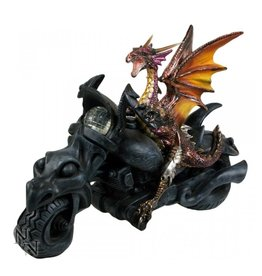 "Nemesis Dragon on Motorcycle figurine ""Born to Ride"" - Nemesis Now"