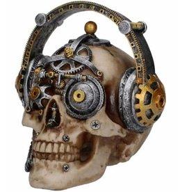 Alator Skull with Headphone Techno Talk
