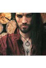 Alchemy Gothic sieraden Steampunk sieraden - Ketting met Raaf schedel Volvan Raven - Alchemy