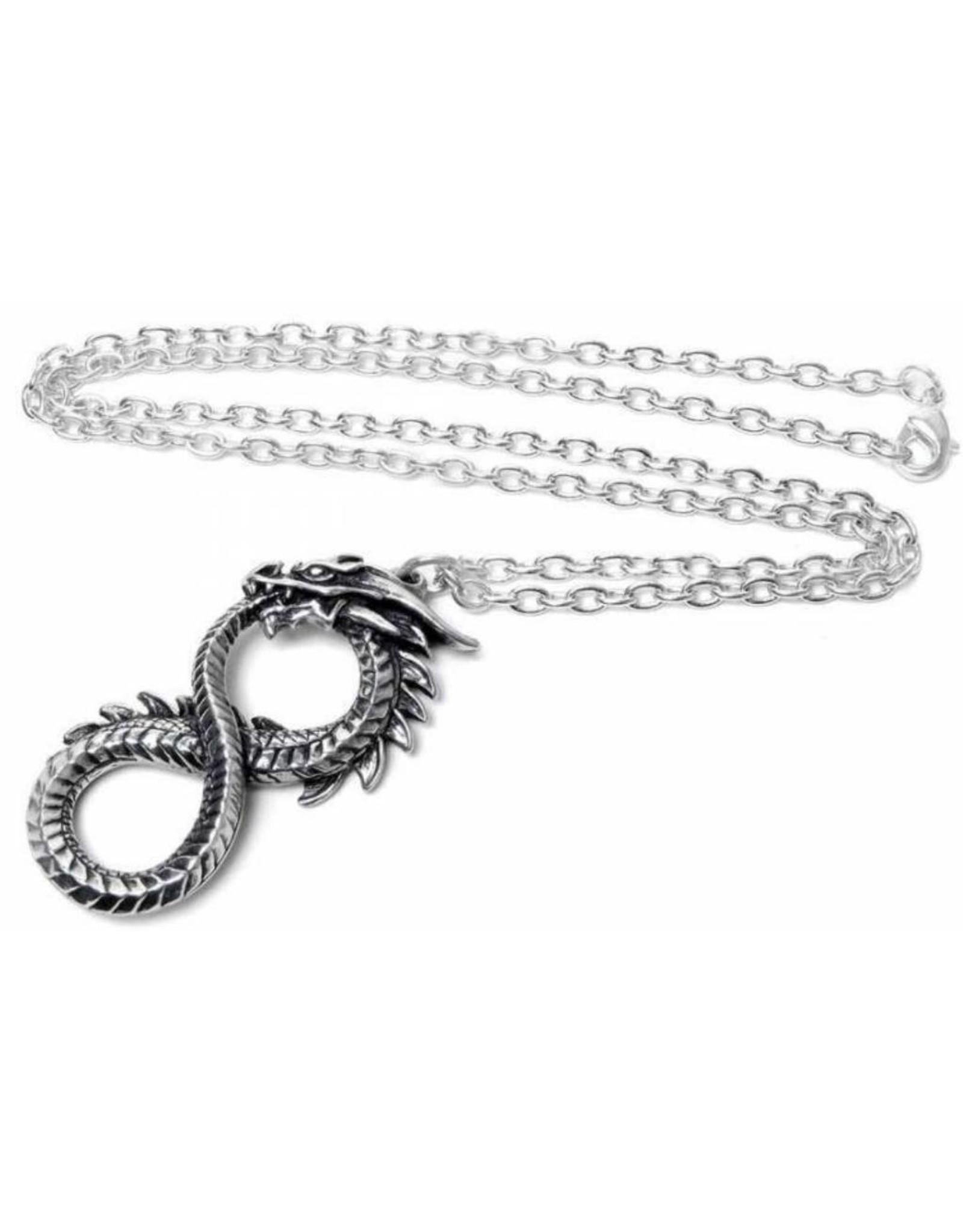 Alchemy Gothic jewellery Steampunk jewellery - Dragon necklace Infinity Dragon - Alchemy