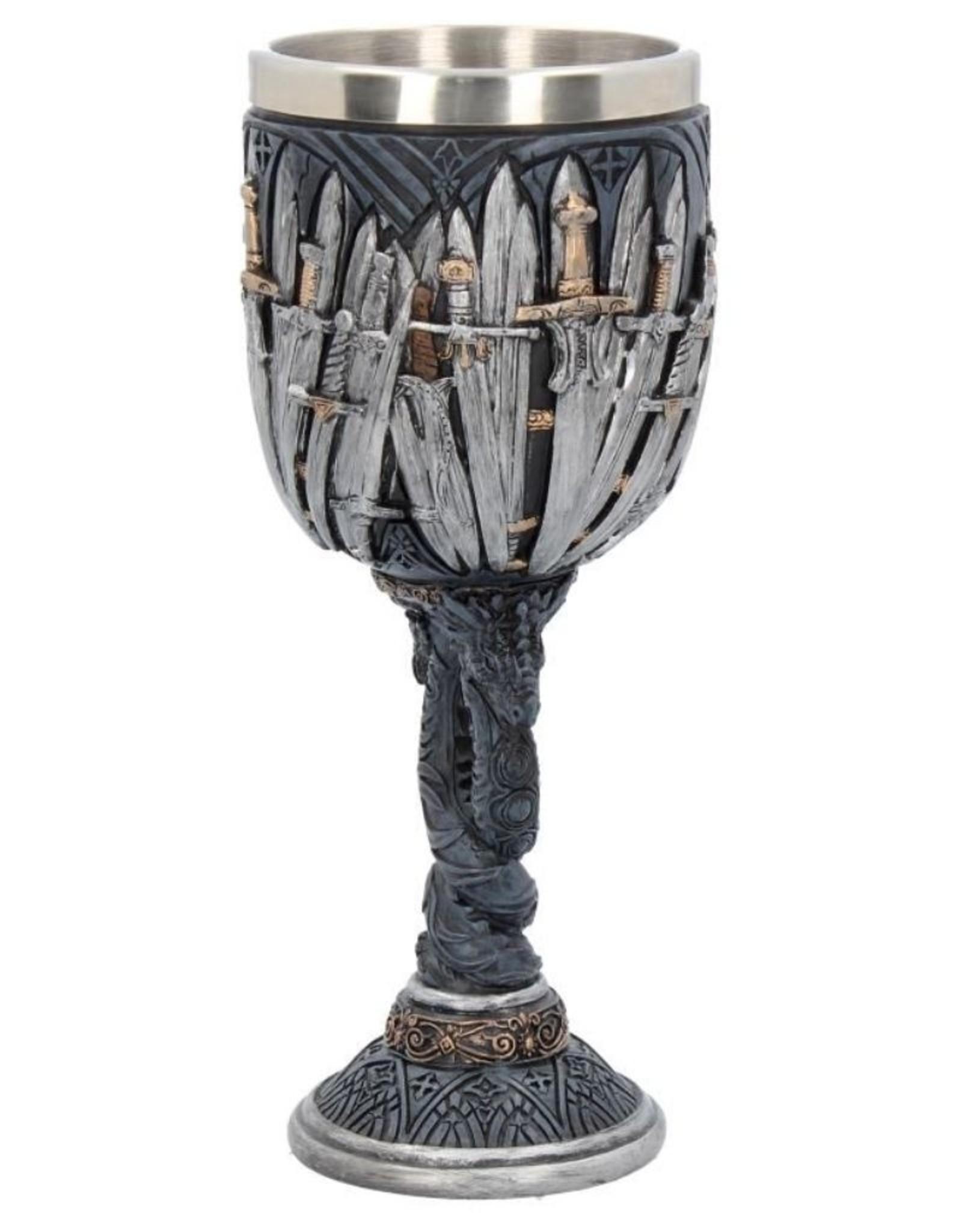 Alator Bekers en Kelken - Middeleeuwse kelk Sword Dragon  - Nemesis Now