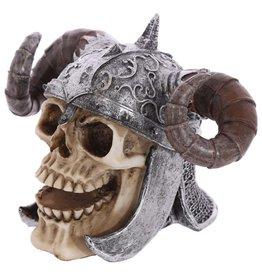 Twisted horns Viking Skull