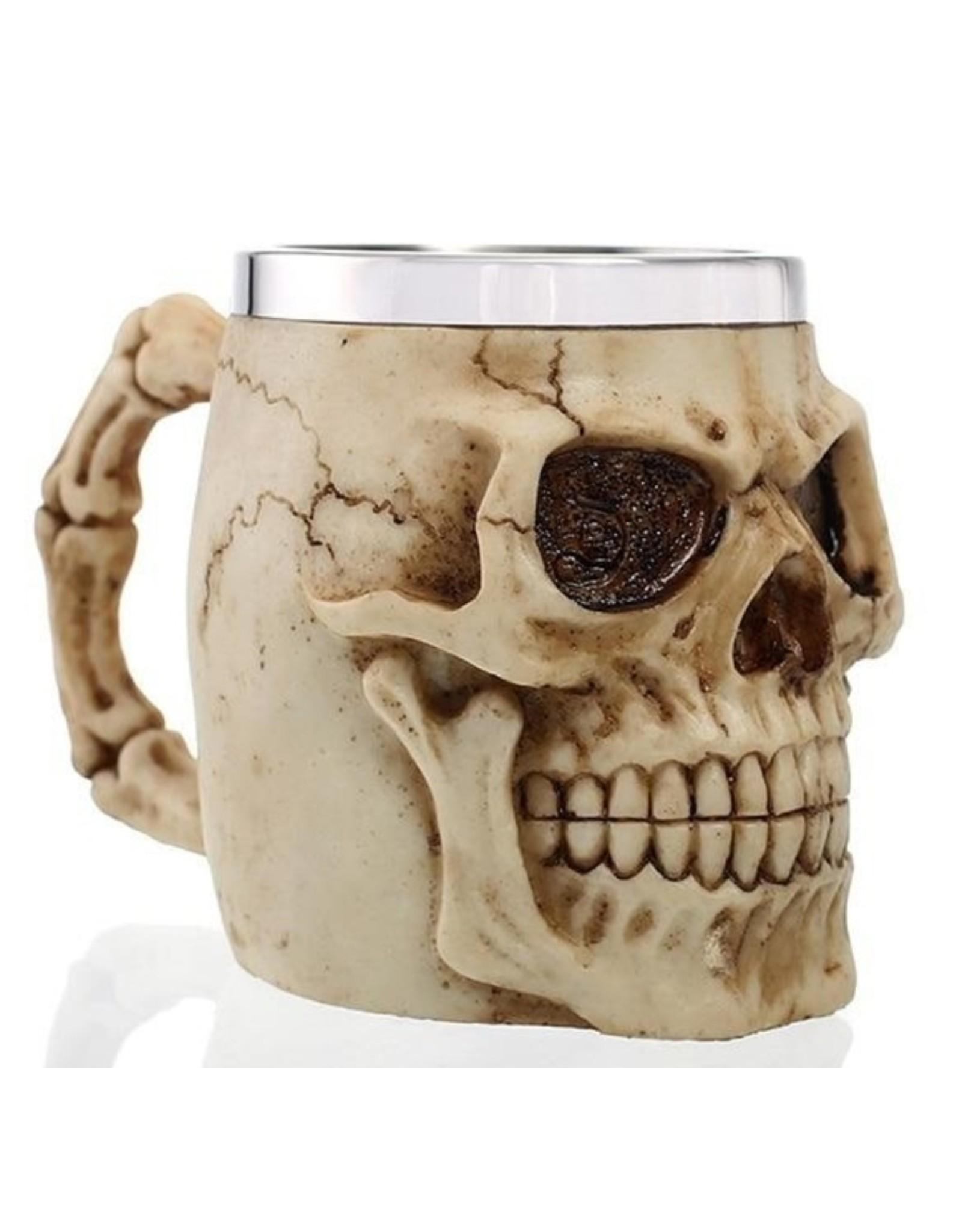 Dark Desire Bekers en Kelken - Gothic drinkbeker Schedel (naturel)