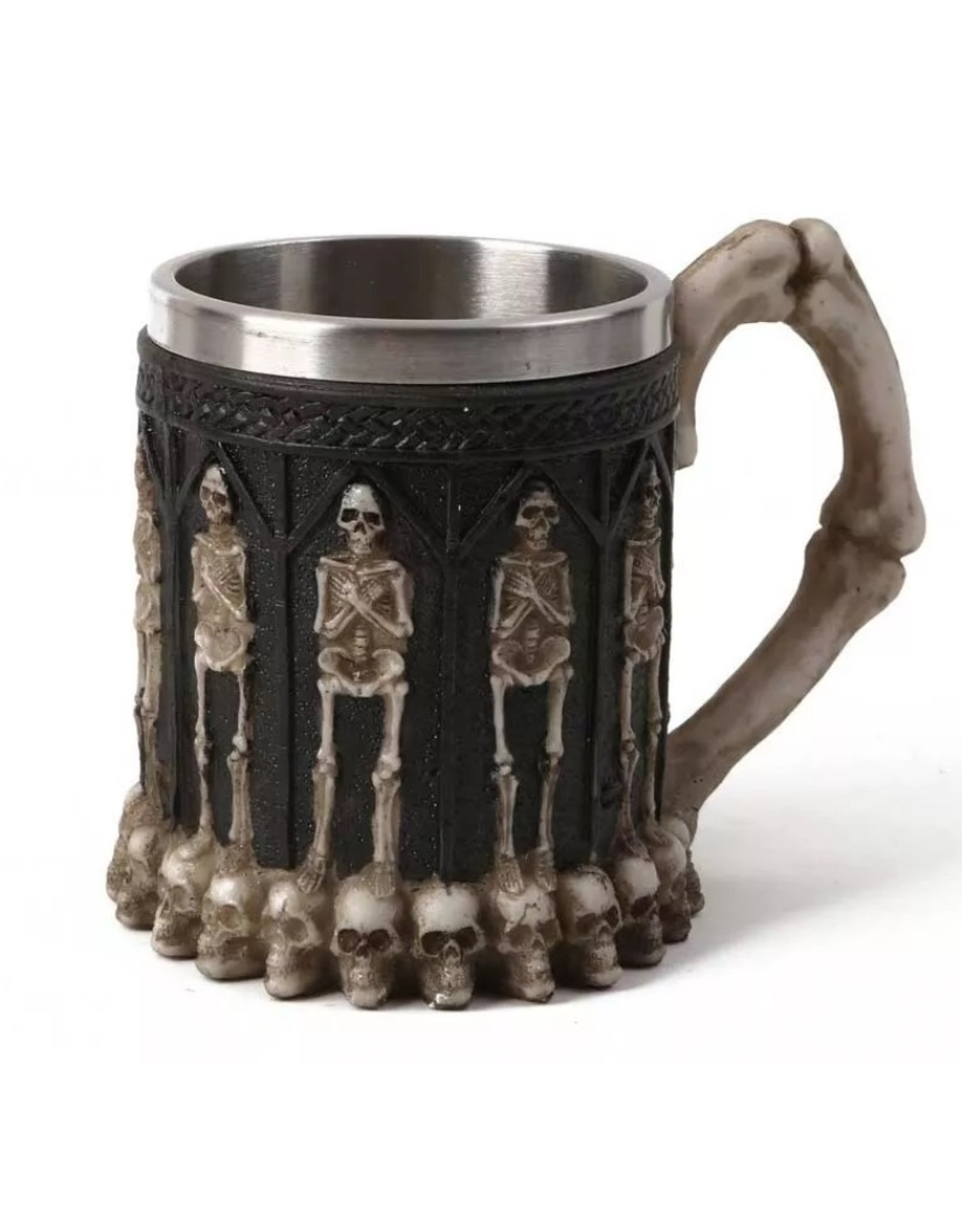 Dark Desire Tankards and Goblets - Gothic tankard with Skeletons