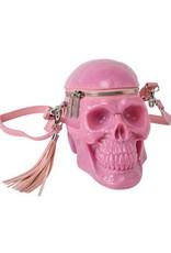Killstar Gothic tassen Steampunk tassen -  KillStar Grave Digger schedel handtas (Bubblegum)