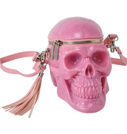 Killstar KillStar Grave Digger schedel handtas - Bubblegum