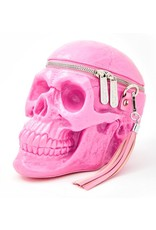 Killstar Gothic bags Steampunk bags - KillStar Grave Digger Skull handbag (Bubblegum)