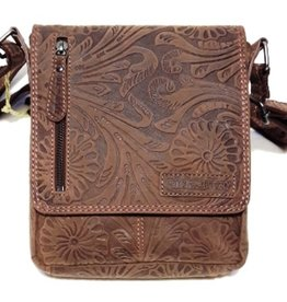 HillBurry Leather Shoulder Bag Brown HillBurry 3069br