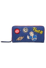 fallout Merchandise portemonnees - Fallout Vault 76 Denim portemonnee met patches