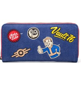 fallout Fallout Vault 76 Denim wallet with patches