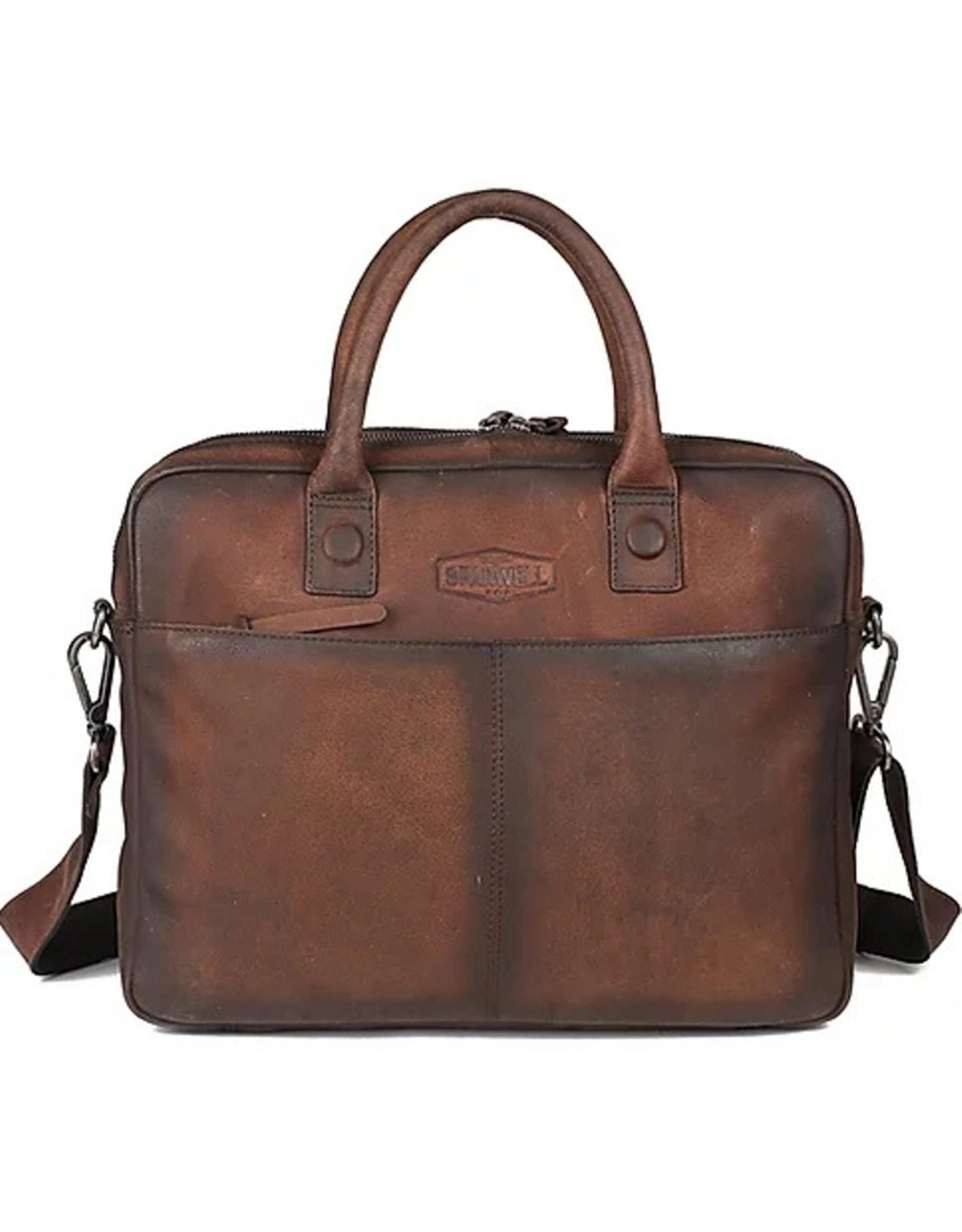 "Sparwell Leather laptop bags - Sparwell Leather Laptop bag Salvio 14"" - Sabbia"
