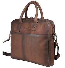 "Sparwell Sparwell Leather Laptop bag Salvio 14"" - Sabbia"