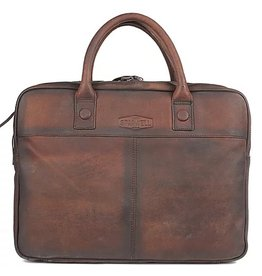 "Sparwell Sparwell Leather Briefcase Silas 15,5"" - Sabbia"