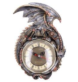 Alator Steampunk Draak Wandklok Clockwork Combustor Nemesis Now