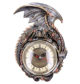 Alator Steampunk Dragon Wall Clock Clockwork Combustor Nemesis Now