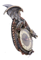 Alator Giftware Beelden Collectables - Mechanische Draak Wandklok Steampunk Clockwork Combustor