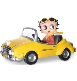 Betty Boop Betty Boop in Yellow Sports Car