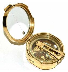 Trukado Brunton Kompas met peilspiegel (messing)
